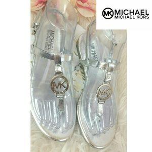 Silver Logo Womens Sandals MICHAEL KORS 5